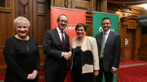 Labour and the Greens have announced an historic agreement in an effort to roll the Government at next year's election.