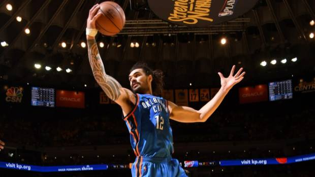 New Zealand's Steven Adams has rounded out the NBA pre-season in style.
