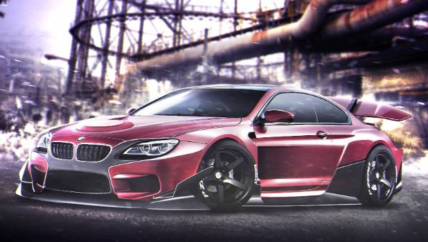 Magneto's M6 has big spoiler, or is it a cape? You decide.