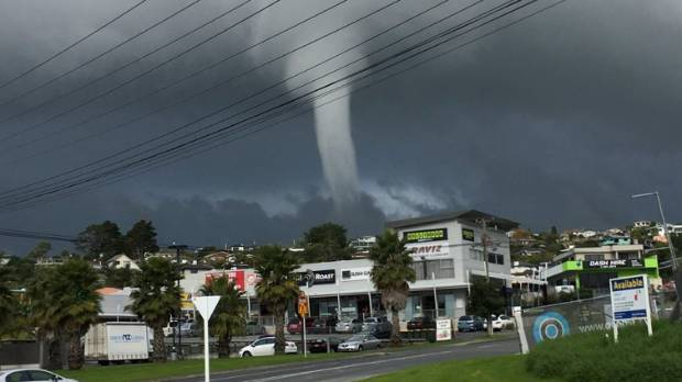 A waterspout surprised Whangaparaoa residents early this afternoon.