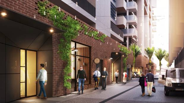 An Artistu0027s Impression Of Modern Apartment Life At Aucklandu0027s Wynyard  Quarter.