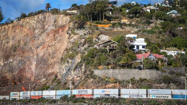 Deans Head is about to lose most of these houses as thousands of cubic metres of rock and soil are removed to make it safe.