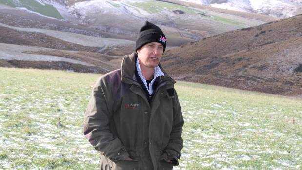 Lumsden farmer Willie Menlove on hill country which has been developed.