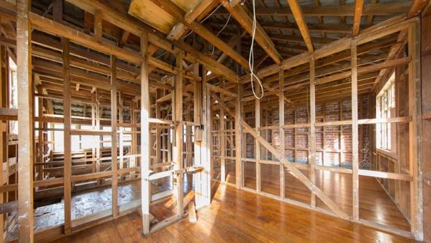 A house on sale in Auckland was stripped bare and it's walls knocked down after being tested for methamphetamine.