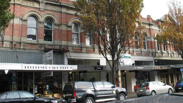 The Duncan's buildings in High St before the earthquakes.