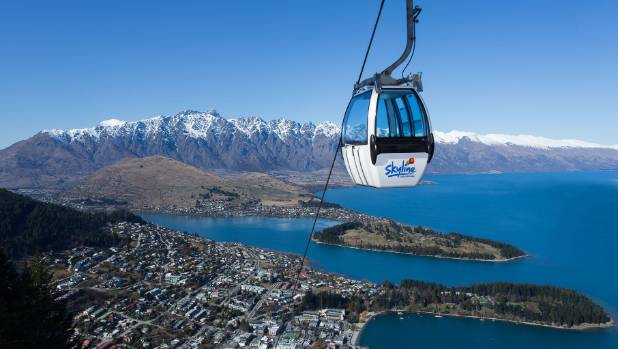 Queenstown's Skyline gondola as it is today.