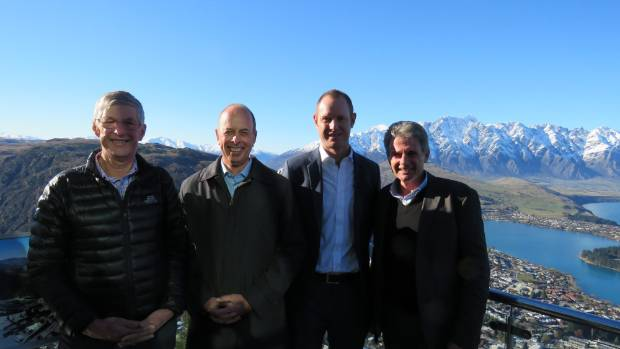 Architect Michael Wyatt, Skyline Enterprises chief executive Jeff Staniland, Skyline Queenstown general manager Lyndon ...