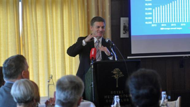 Bill English was speaking at at a Hutt Chamber of Commerce lunch when he suggested the government could talk to students ...