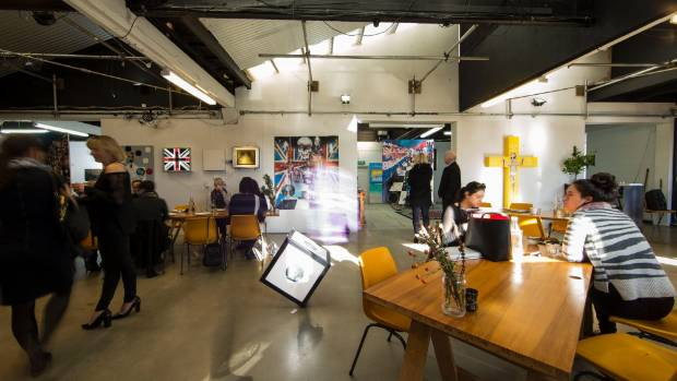 Art, life and hungry professionals in XCHC, a shared creative space and cafe in Waltham.