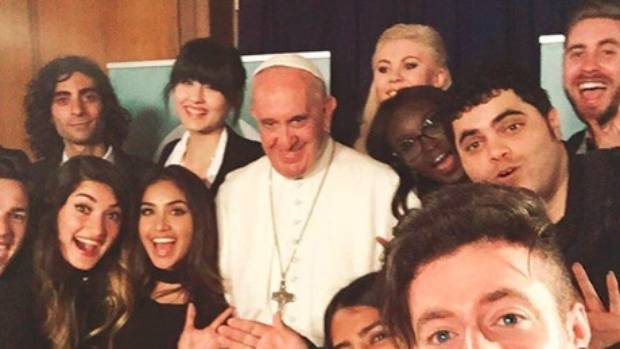Pope Francis spent 50 minutes talking to the vloggers.
