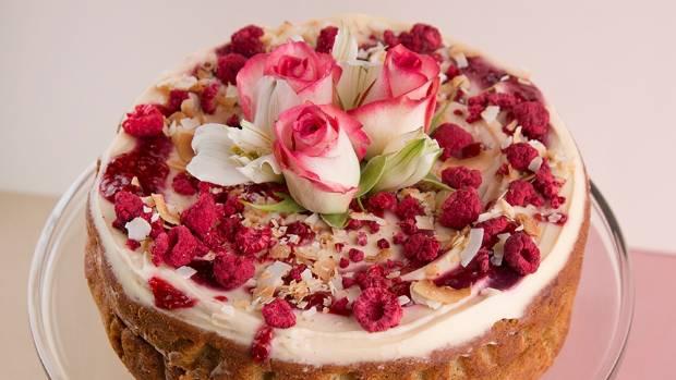 Recipe: Jordan Rondel's orange zest, pear and raspberry cake