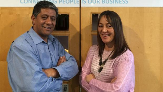 Siuai and Serena Fiso of Connect Global, are looking for premises to setting up a contact centre in South Taranaki.
