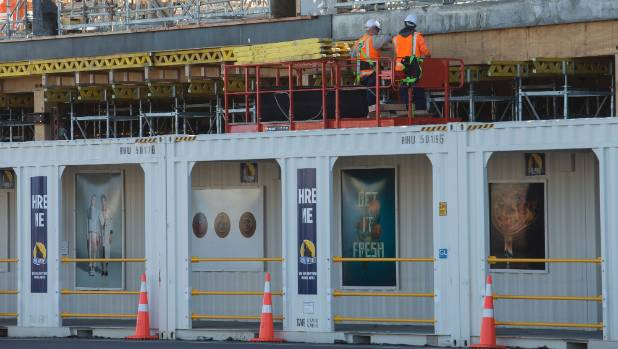 Ara Institute of Canterbury has used artwork from students to brighten up its Moorhouse Ave construction site.
