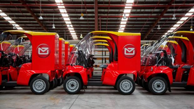 The new postie vehicles are similar to mobility vehicles, but are larger and manoeuvre better.