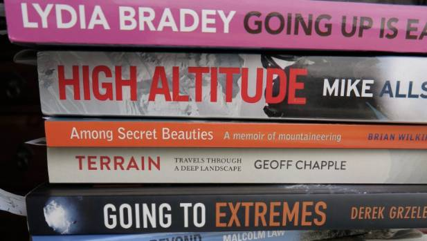 Some of the books entered into the 2016 New Zealand Mountain Film and Book Festival.