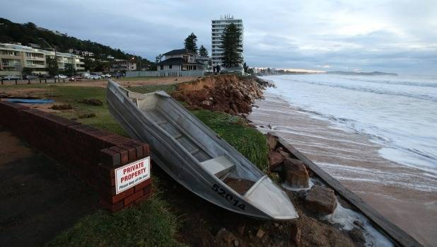 Collaroy, Sydney, the morning after the big storm.