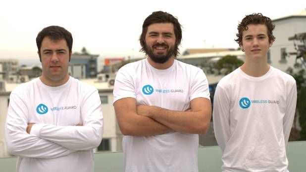 Wireless Guard, founders Anthony Lefebvre-Allen, Taylor Howatson and Gabriel Eden, are looking at breaking into the US ...