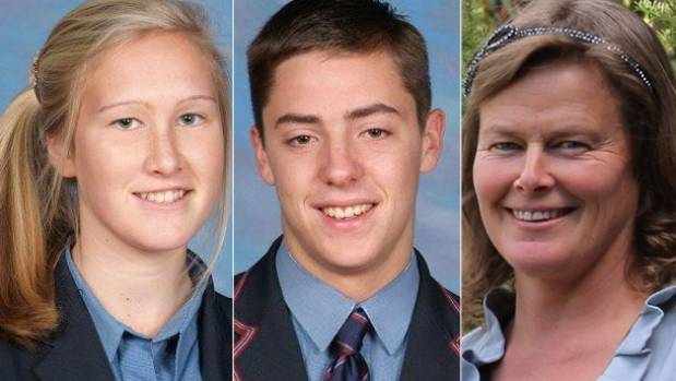 Sadie Stewart, 16, James Wearmouth, 18, and Susanna Stewart, 48, died when their ute smashed into a tree.