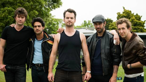 Westside: The Ted West gang. (from L to R) Daniel Musgrove as Lefty, Pana Hema Taylor as Bert, David de Lautour as Ted, ...