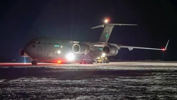 She was evacuated on a C17 plane, similar to this one, jointly operated by the United States Antarctic Program and ...
