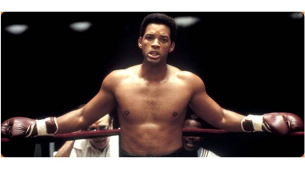 Actor Will Smith as Muhammad Ali, in the 2001 Michael Mann film Ali.