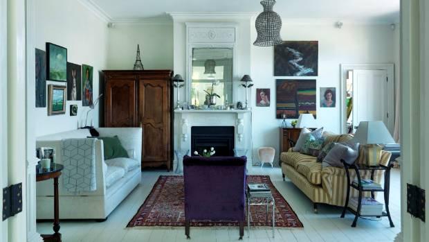 Artworks abound in Wellington interior designer Bridget Foley's home.
