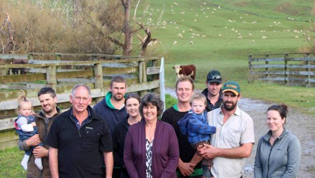 There's silence in the shearing shed while a large portion of the Reeves family assemble outside for a photo.  From ...