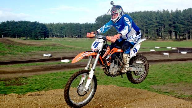 Seventy-year-old Feilding grandpa Gary Southee, who still rides in motocross competitions, has a hoon at a Whanganui  track.