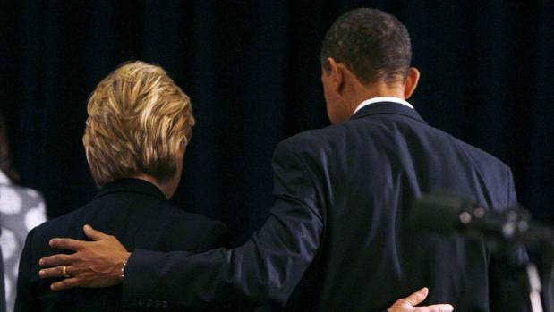 Clinton has been endorsed in her bid for president by Barack Obama.