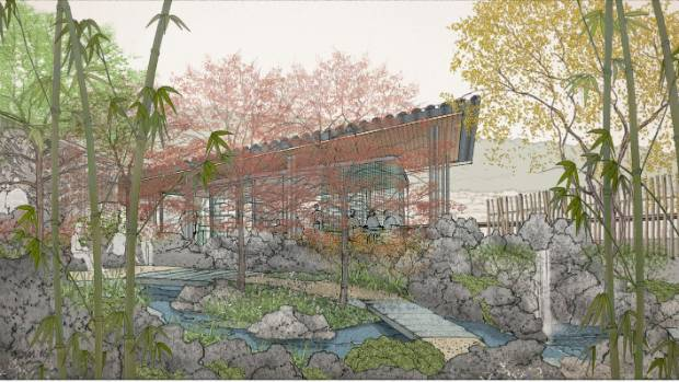Wellington's sister city Xiamen is expected to build a tea pavilion, shown here, in the proposed Chinese Garden.