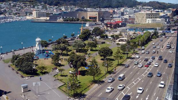 The redevelopment of Frank Kitts Park, pictured here, is currently up for resource consent.