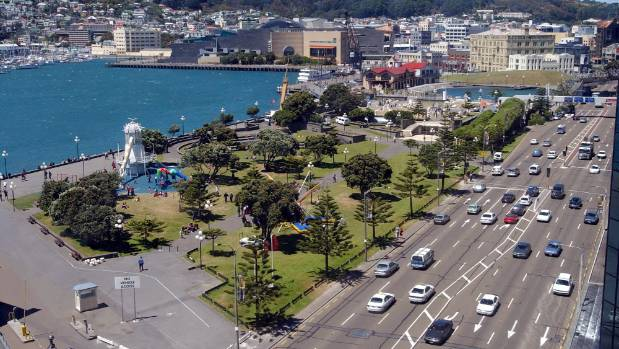 Frank Kitts Park as it looks today on Wellington's waterfront.