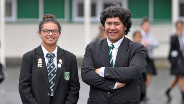Taita College students Teagan Tautala-Hanita and Kaisa Fa'atui think Bill English should pay another visit to their ...