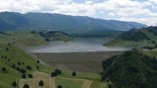 An artist's impression of the 7km-long lake that would be created as part of the Ruataniwha water storage scheme in ...