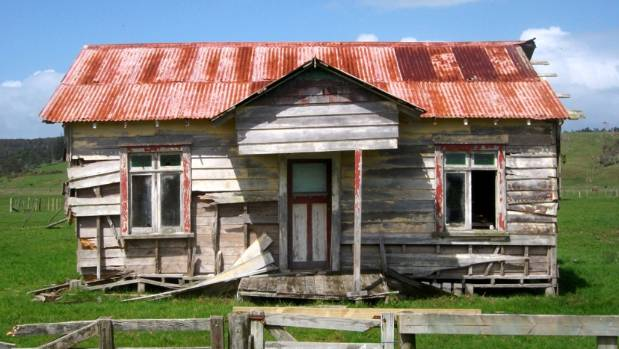 An abandoned house in Awanui, taken by Kelly Stacey in 2015. The photograph is part of an exhibition showing at Alberton.