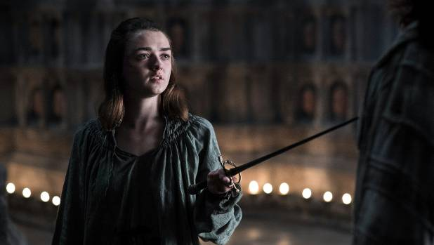 Maisie Williams, who plays Arya Stark, is reportedly a big fan of Sheeran's music.