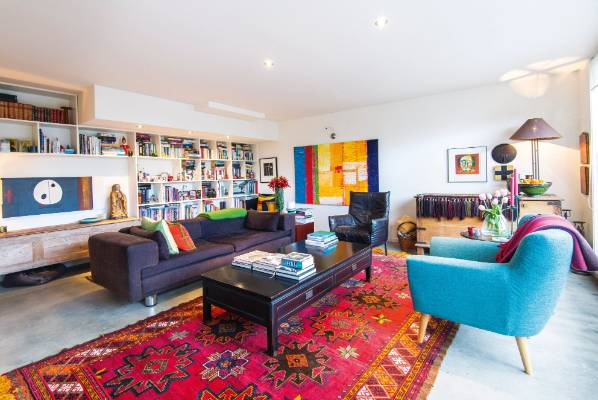 The lounge is an ideal reading space for Anne and Peter Stephens who are both avid book lovers.