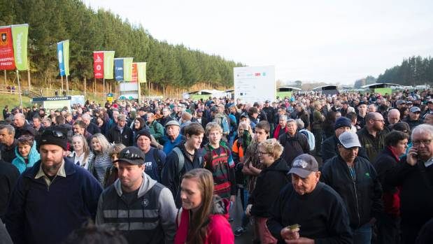 People queue up to enter the Fieldays as early as 6am to be the first through the gate.
