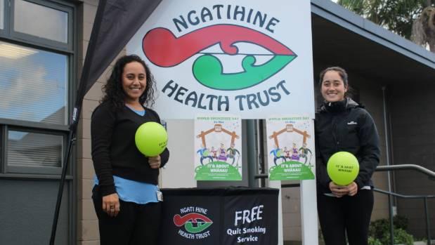 Ngati Hine Health Trust stop smoking practitioners Nelly Orupe and Kauangarua Kingi.