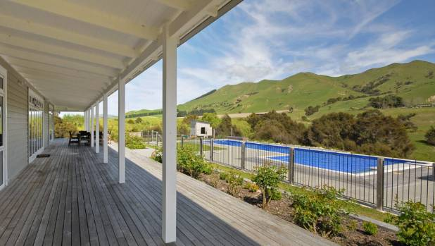 Springrock has views of Wairarapa's eastern hills over a 15-metre, heated swimming pool.