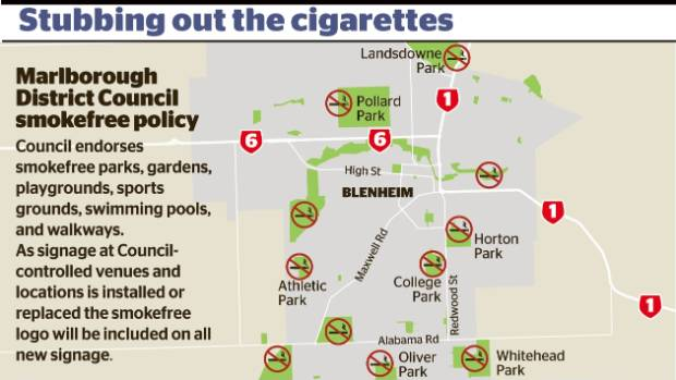Smokefree spaces in Marlborough