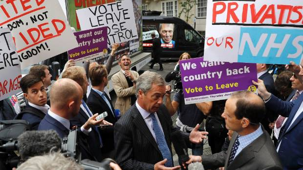 Leader of the United Kingdom Independence Party (UKIP) Nigel Farage is backing the Brexit.