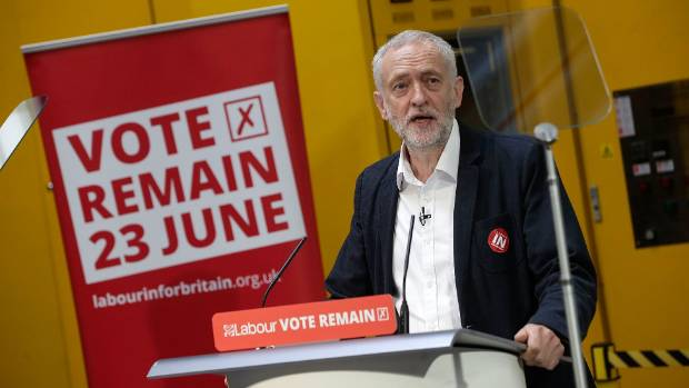 """Labour leader Jeremy Corbyn has resumed campaigning for the """"Remain"""" movement."""