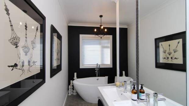 The modern bathroom is not the over the top luxury of for Monochromatic bathroom designs