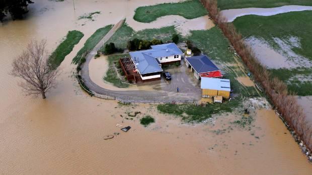 Heavy flooding in south Taranaki in 2015. Fifty years ago, flooding turned fatal.