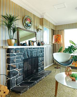 """The fireplace was hand-built and is lovely to look at, but not so good at generating heat: """"We'll put it on if we want a ..."""