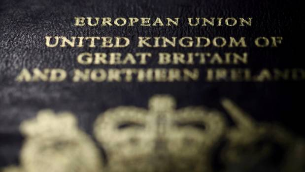 A European Union British passport that would need to be updated if Britain votes to leave the EU.