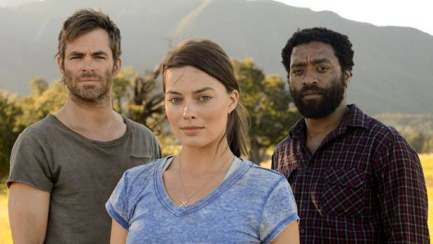 Movie stars Chris Pine, left, Margot Robbie and Chiwetel Ejiofor made the post-apocalyptic film Z for Zachariah near ...