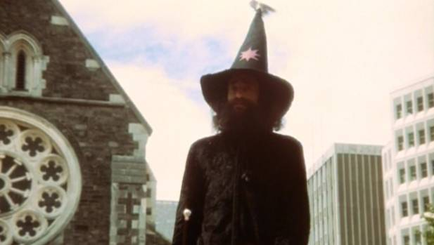 Director Geoff Murphy hopes to include this scene of the Wizard in Christchurch in a future release of the original ...