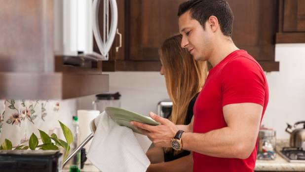 spouses sharing equal housework You're more likely to get divorced unless husbands do wife takes on a greater share of housework so as to and more as equal.